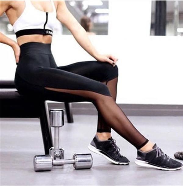 leggings mesh workout leggings sproty jogging tights gym yoga fashion