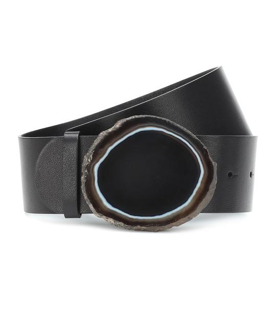 Gabriela Hearst Agate Wide leather belt in black