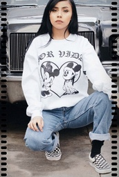 sweater,minnie mouse