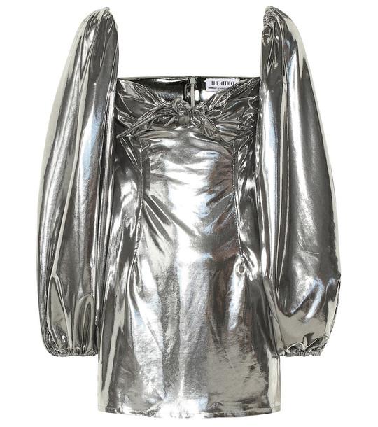 The Attico Metallic minidress in silver