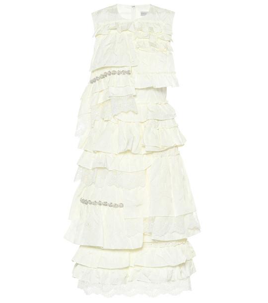 Moncler Genius 4 MONCLER SIMONE ROCHA ruffled dress in white