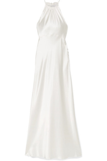 Les Rêveries - Silk-charmeuse Halterneck Gown - Ivory