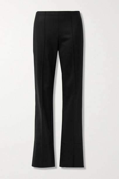 THE ROW - Kriss Wool-blend Flared Pants - Black