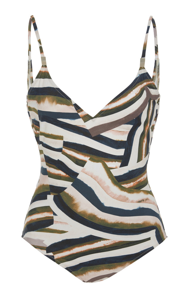 On The Island Asterias Printed V-Neck Swimsuit in print