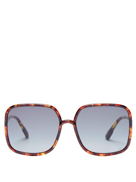 Dior Eyewear - Sostellaire 1 Square Frame Acetate Sunglasses - Womens - Tortoiseshell