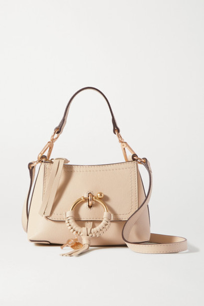 See By Chloé See By Chloé - Joan Mini Textured-leather Shoulder Bag - Beige
