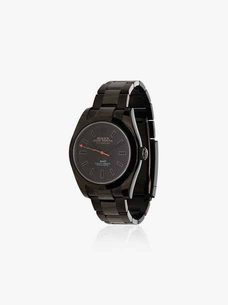 MAD Paris black Rolex Milgauss Ghost 43 stainless steel watch