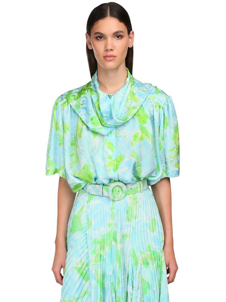 BALENCIAGA Printed Satin Jacquard Shirt
