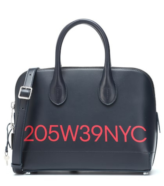 Calvin Klein 205W39NYC Printed leather tote in blue