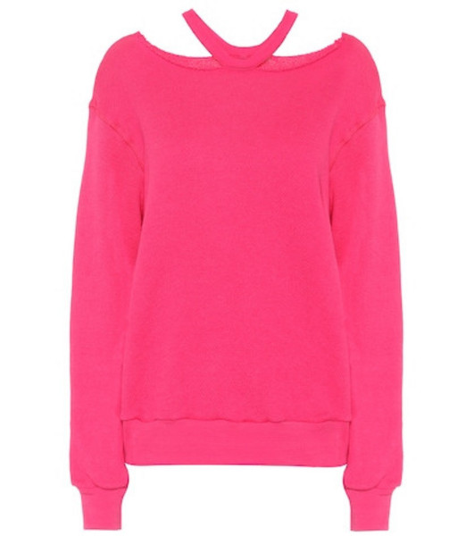 Unravel Cotton and cashmere sweatshirt in pink