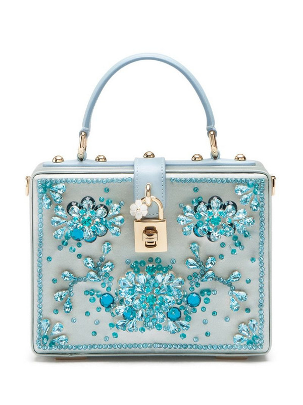 Dolce & Gabbana rhinestone-embellished tote bag in blue