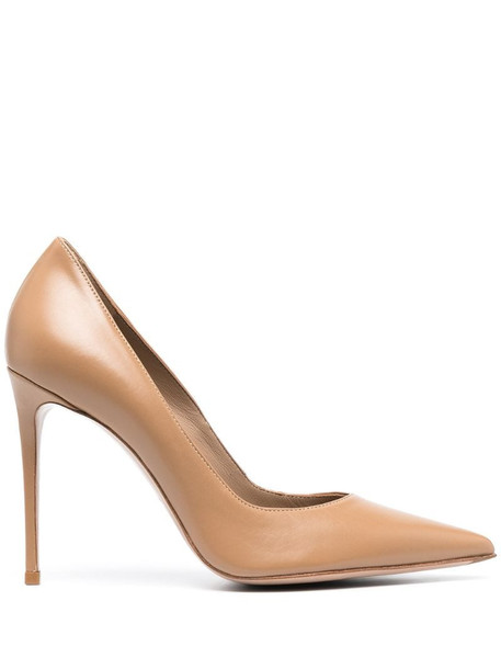 Le Silla 100mm Eva pointed pumps in neutrals
