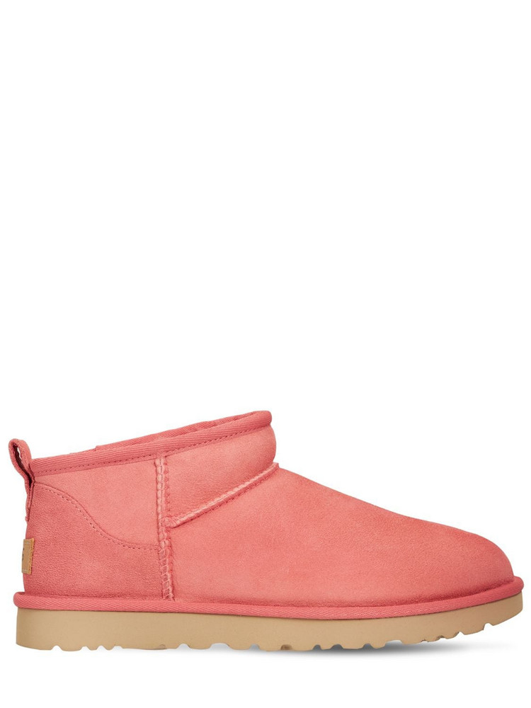 UGG 10mm Classic Ultra Mini Shearling Boots in pink