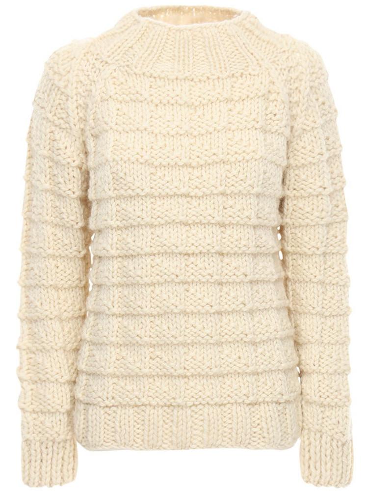 GUDRUN & GUDRUN Amor Wool Knit Sweater in ivory
