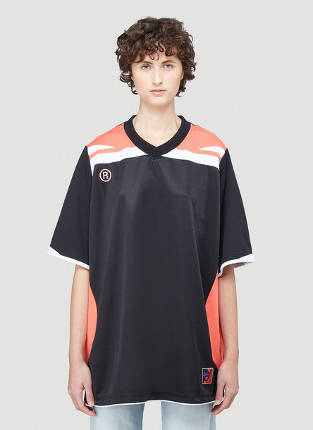 Martine Rose Two-Way Football Top in Black size M