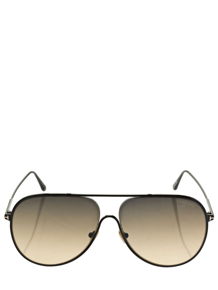 TOM FORD Alec Pilot Metal Sunglasses in black / multi