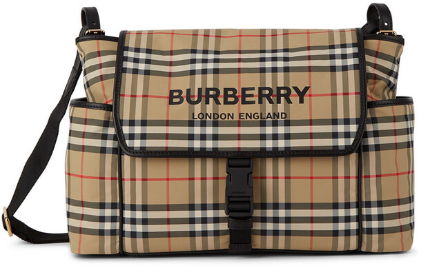 Burberry Baby Vintage Check Changing Bag in beige
