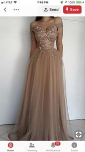 dress,prom dress,nude,pink,long dress