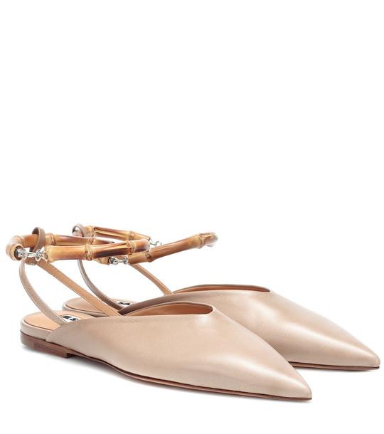Jil Sander Leather mules in beige