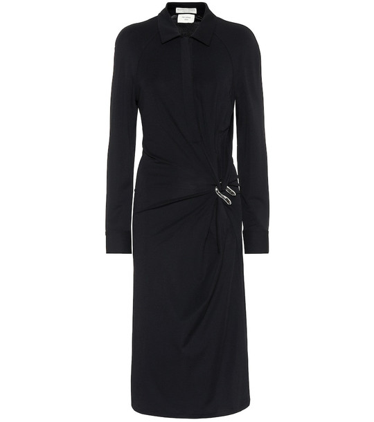 Bottega Veneta Crêpe jersey shirt dress in black