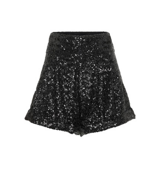 Isabel Marant Orta high-rise sequined shorts in black