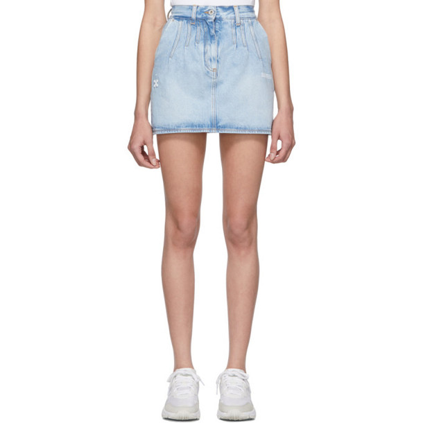 Off-White Blue Denim Miniskirt
