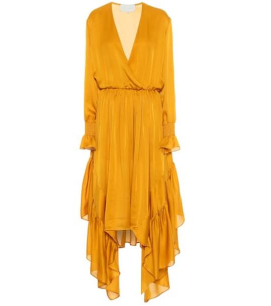 Arjé Indira silk maxi dress in yellow