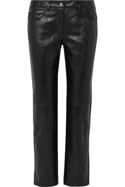 Michael Kors Collection - Paneled Leather Straight-leg Pants - Black