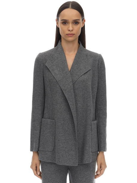 AGNONA Cashmere Knit Cardigan in grey