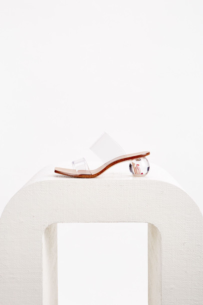 Cult Gaia Jila Flower Heel - Clear (PREORDER)                                                                                               $398.00