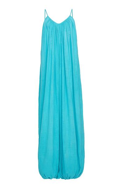 Kalita Balloon Silk Jumpsuit in blue