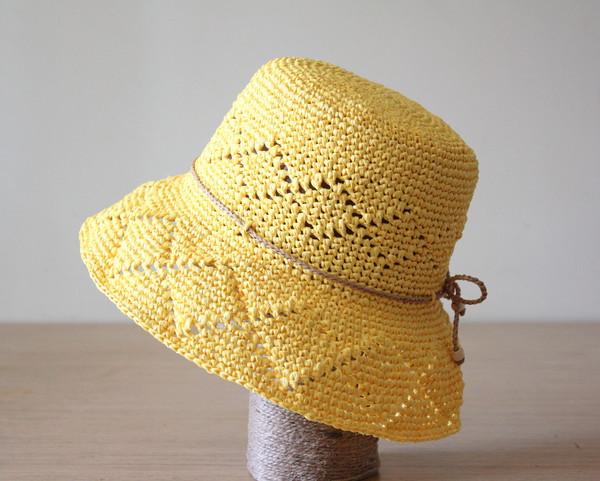 hat yellow hat sun hat raffia summer hats crochet hat ladies hats
