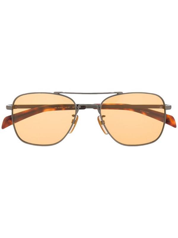 Eyewear by David Beckham aviator-frame sunglasses in brown