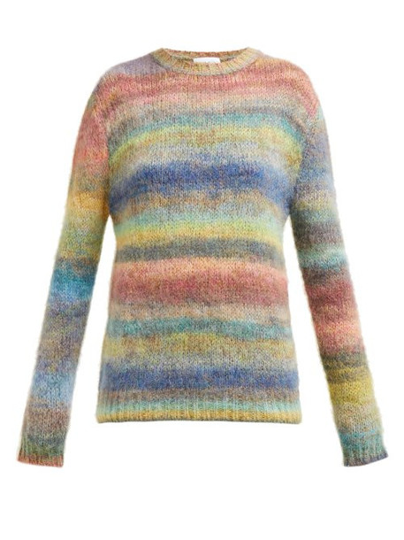 Raey - Striped Hand Painted Knitted Sweater - Womens - Multi