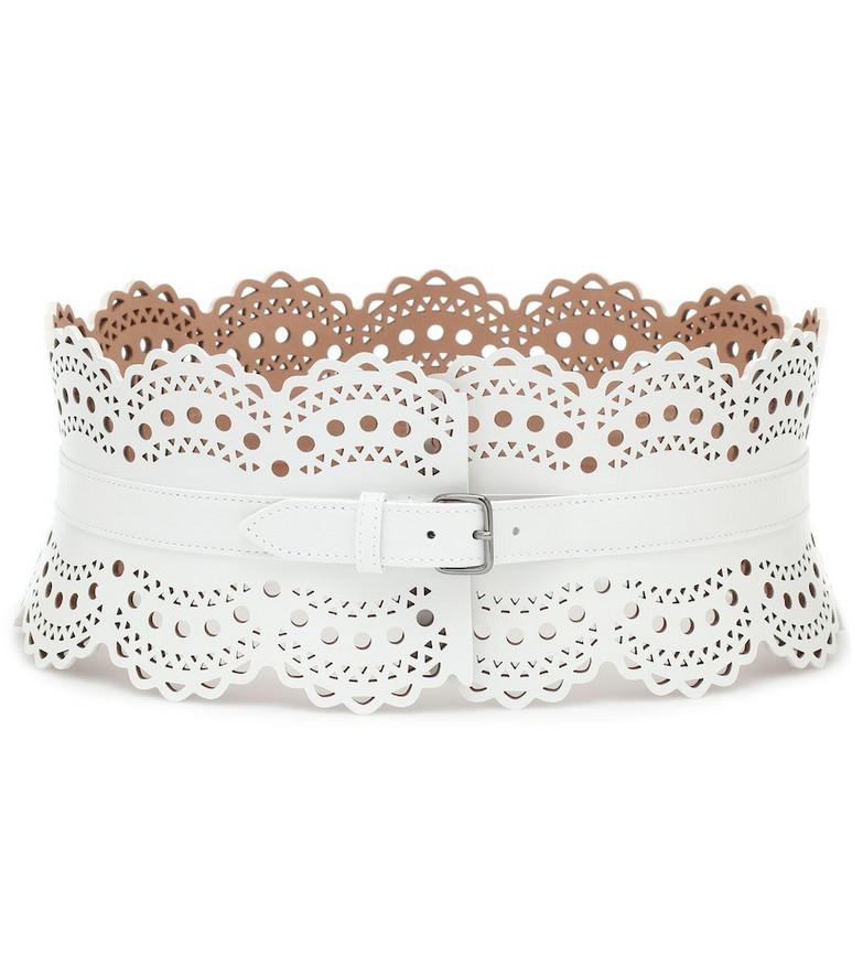 Alaïa Leather corset belt in white