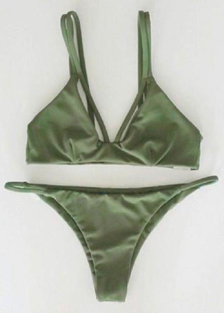 swimwear green fashion bikini style trendy olive green beach summer trendsgal.com shodg green bikini green swimwear