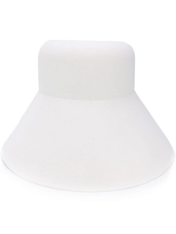 Nina Ricci knitted bucket hat in white