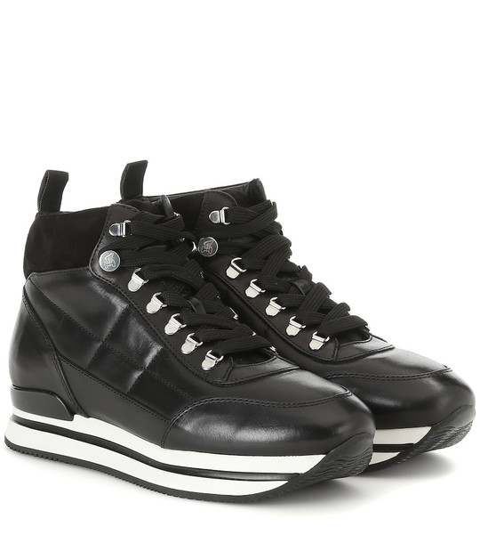 Hogan Polacco leather sneakers in black