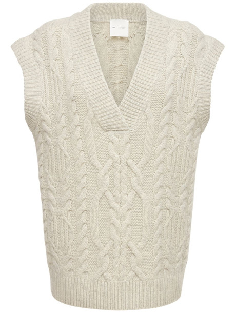 THE GARMENT Canada Wool Cable Knit Vest in white