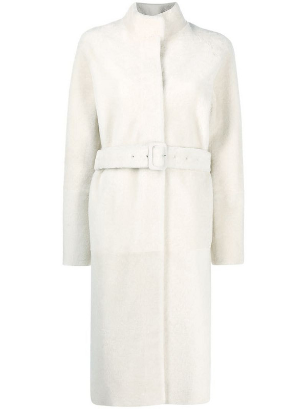 Inès & Maréchal Himalayan shearling coat in white
