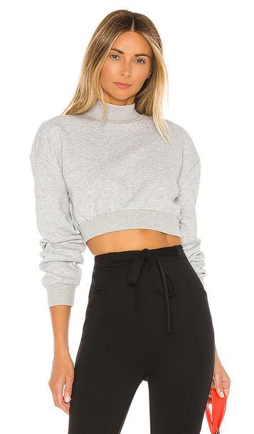 superdown Meghan Crop Sweatshirt in Gray