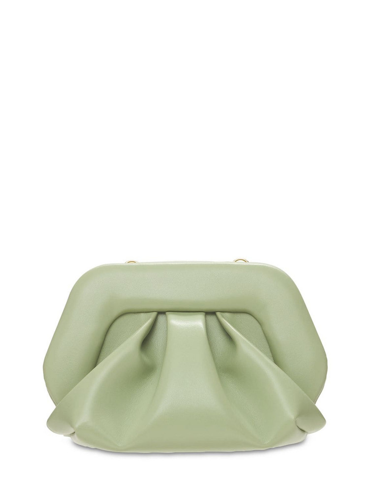 THEMOIRÈ Gea Faux Leather Clutch in mint