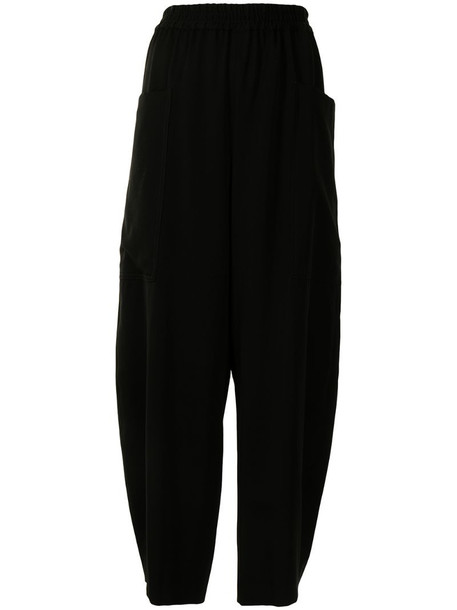 Y's cropped tapered trousers in black