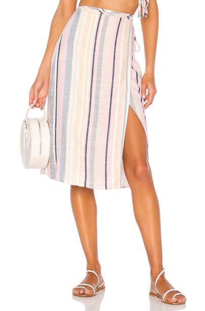MAJORELLE Lydia Midi Skirt in pink