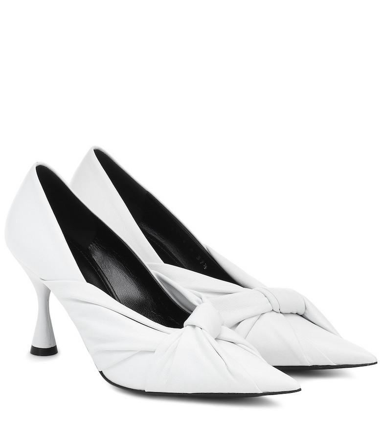 Balenciaga Drapy leather pumps in white