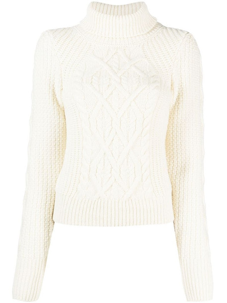 See by Chloé roll neck knit jumper in white