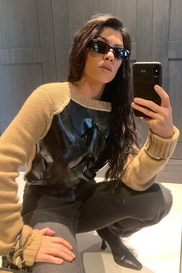 sweater kourtney kardashian kardashians celebrity fall outfits instagram fall sweater
