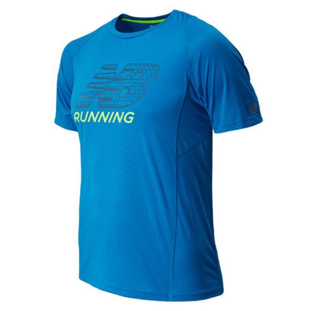 New Balance 4330 Men's Accelerate Short Sleeve Graphic - Laser Blue (MRT4330LSB)