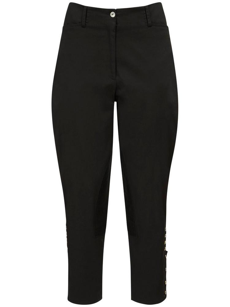 ÀCHEVAL PAMPA Al Beso Stretch Pants W/ Back Half Belt in black