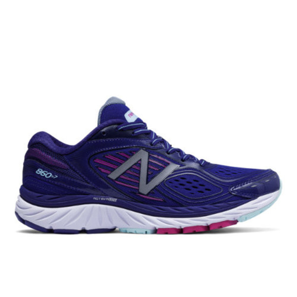 New Balance 860v7 Women's Recently Reduced Shoes - Blue/Pink (W860BP7)